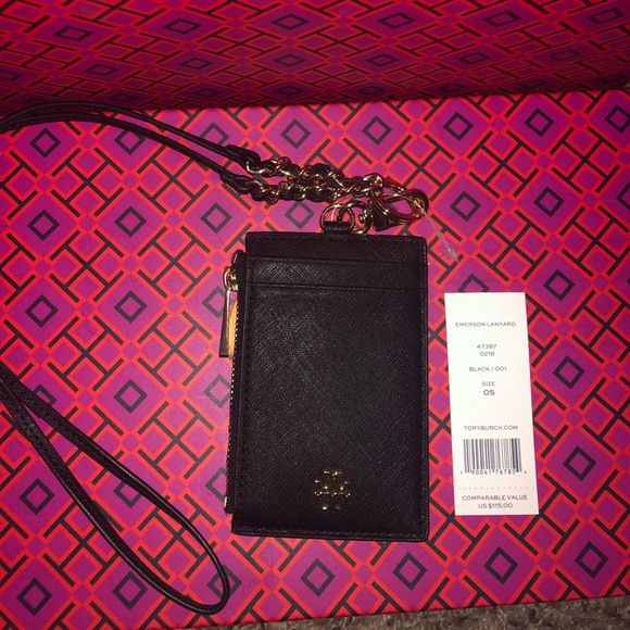 83966604d11c Tory Burch Emerson lanyard   ID CARD HOLDER